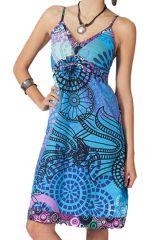 Robe ethnique chic Bleue Elsa 283606
