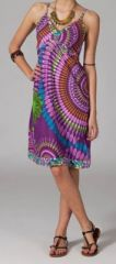 Robe ethnique chic violette Elsa 269677