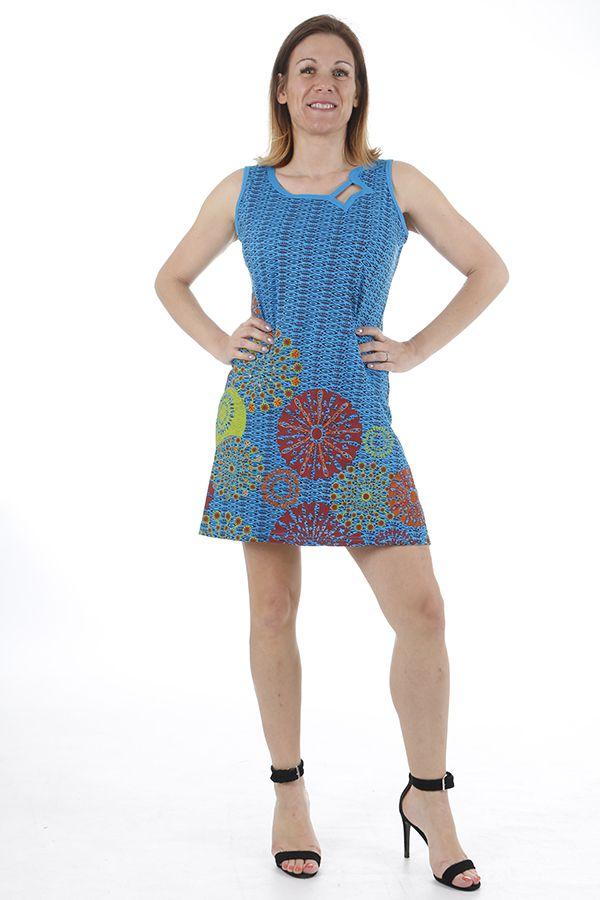 Robe ethnique courte estivale et colorée Melissandre 311028