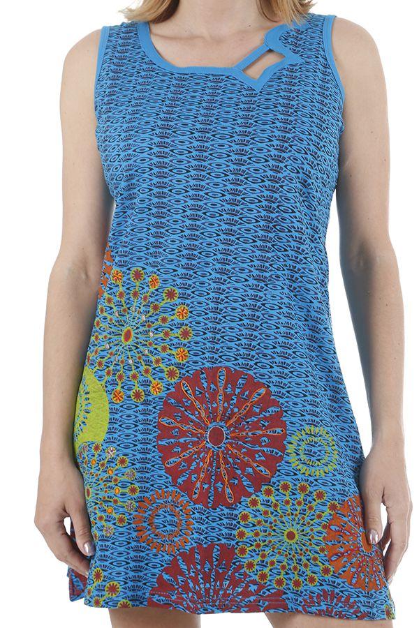 Robe ethnique courte estivale et colorée Melissandre 311029
