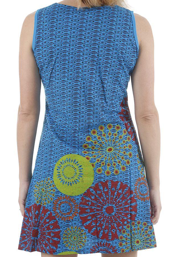 Robe ethnique courte estivale et colorée Melissandre 311030