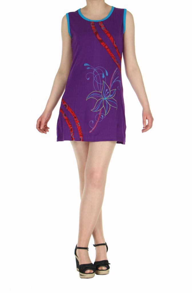 Robe ethnique du Népal violette Floral 269682