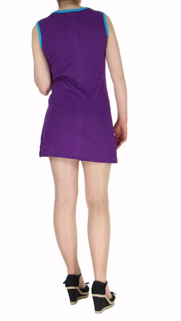 Robe ethnique du Népal violette Floral 269683