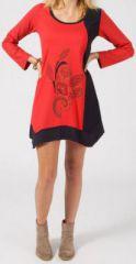 Robe ethnique et originale asymétrique pas chère Maeva