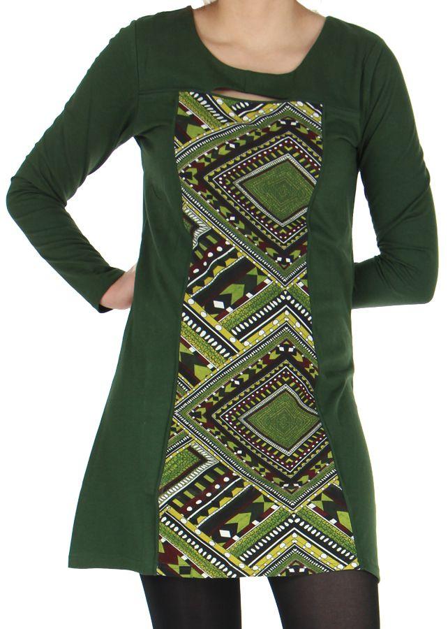 Robe Ethnique et Originale idéale pour Soirée Angie Kaki 278980