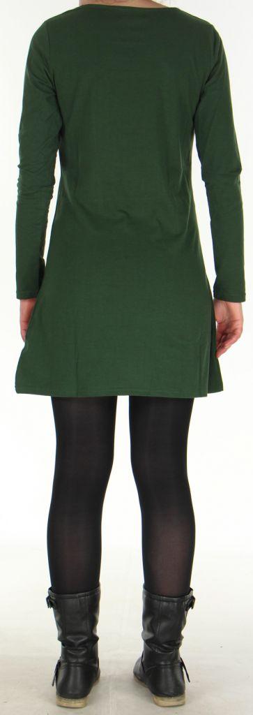 Robe Ethnique et Originale idéale pour Soirée Angie Kaki 278982