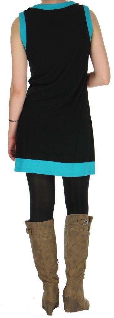 Robe Ethnique et Originale sans manches Angélina Turquoise 279007