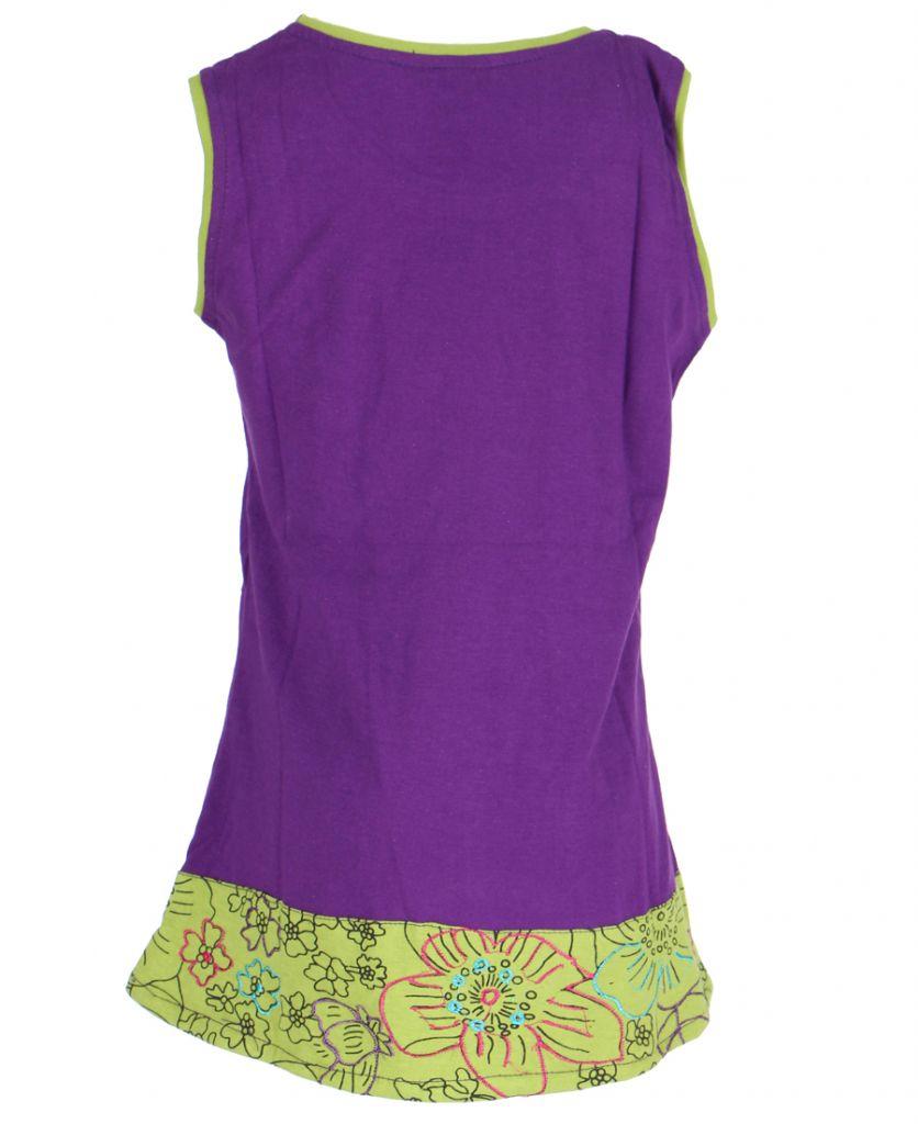 Robe ethnique fille violette Ofelia 268589