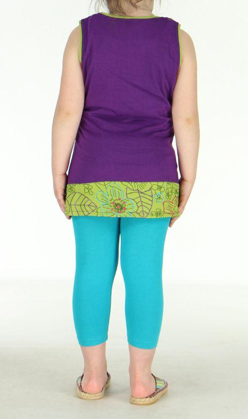 Robe ethnique fille violette Ofelia 270798