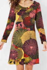 Robe Ethnique imprimée à manches longues et col rond Freya 287895