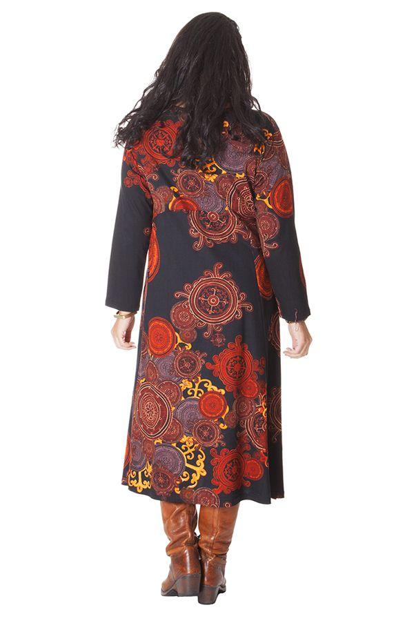 Rouille Noire Ethnique Pour Robe Longue Femme Papaye D'inde Et Ronde FwzAq0