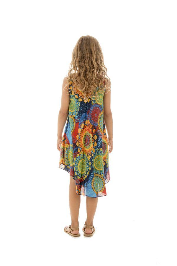 cab9a00564c robe Ethnique pétillante et colorée pour enfant Marie-Sophie 295784. Loading  zoom