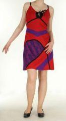 Robe ethnique rouge Lola 270083
