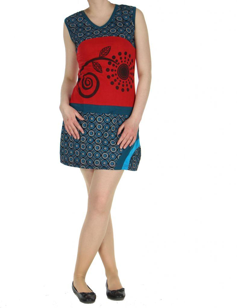 Robe ethnique rouge Mathilde 268381