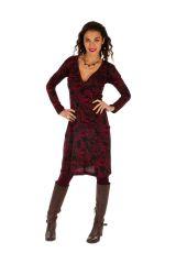 Robe ethnique ultra féminine avec un joli décolleté Gawler 312683