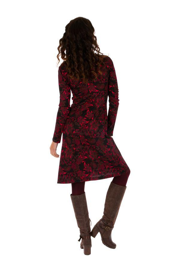 Robe ethnique ultra féminine avec un joli décolleté Gawler 312684