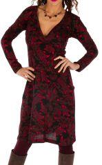 Robe ethnique ultra féminine avec un joli décolleté Gawler 312685