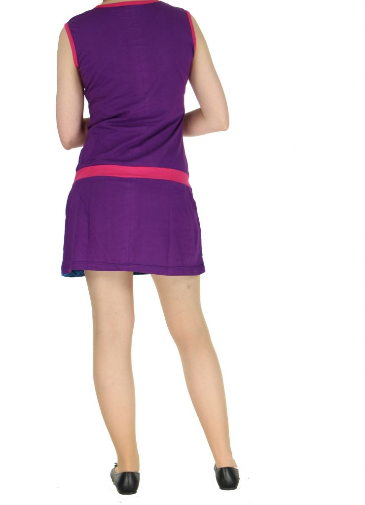 Robe ethnique violette Mathilde 268378