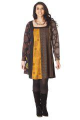 Robe évasée en grande taille Ethnique et Colorée Presley 286117