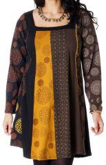 Robe évasée en grande taille Ethnique et Colorée Presley 286975