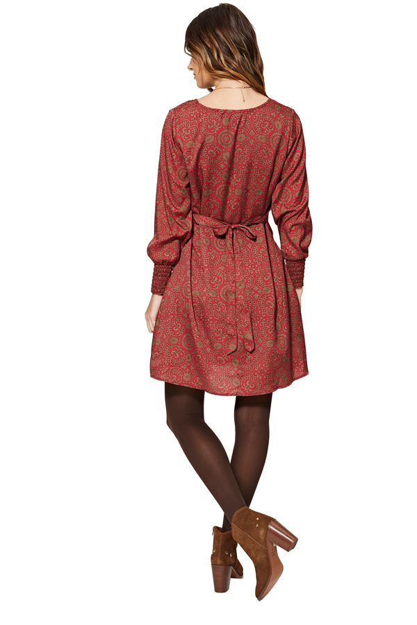 Robe évasée et courte pour femme imprimé ethnique Kaylin