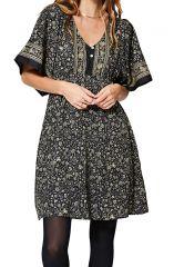 Robe évasée femme tendance bohème imprimé fleurs Ailani