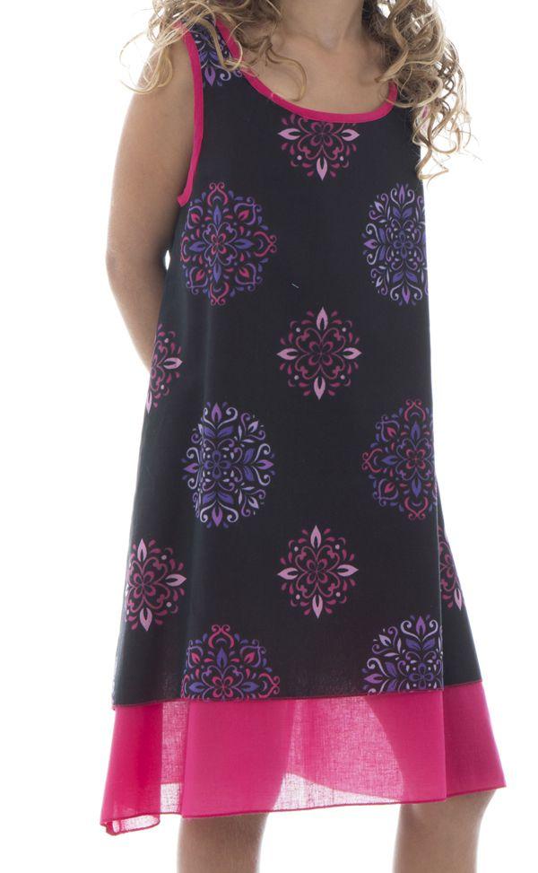 Robe fantaisie  pour enfant à doublure en voile de coton Lara 294537