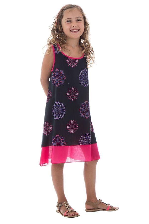 Robe fantaisie  pour enfant à doublure en voile de coton Lara 294538