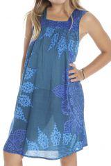 Robe fantaisie à larges bretelles et imprimée Aria 294432