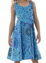 Robe fantaisie pour enfant avec imprimés tendance bleue Lola 294579