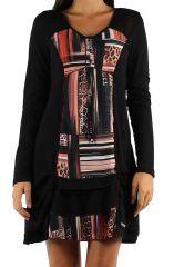Robe féminine colorée à manches longues Julia orange 304380
