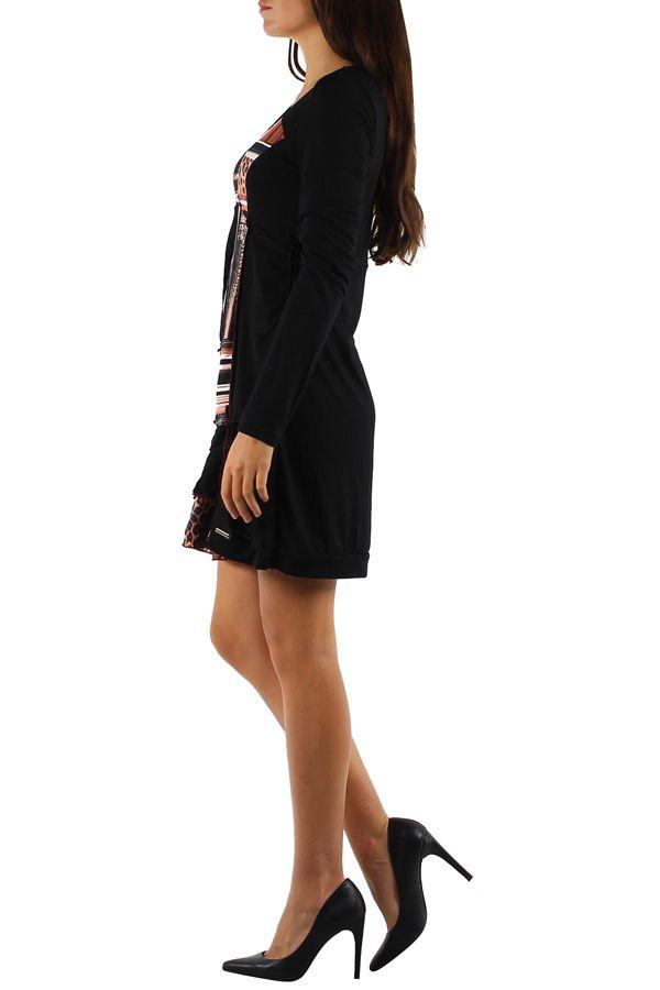 Robe féminine colorée à manches longues Julia orange 304382