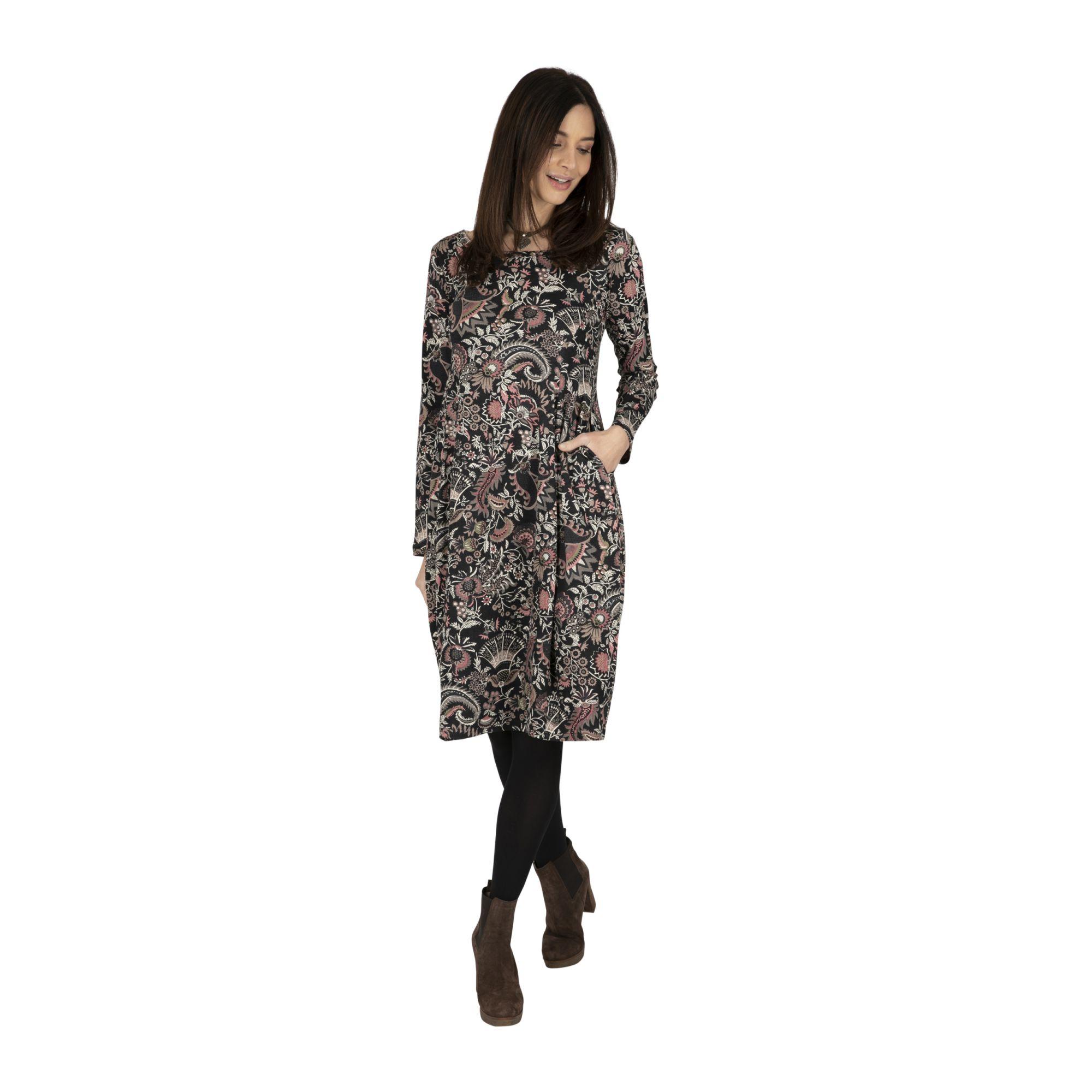 Robe femme bohème chic hiver à imprimé floral Hantie