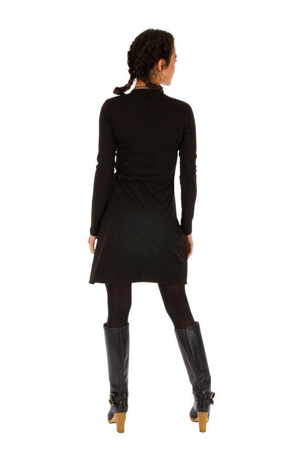 Robe femme chic courte automne hiver pas cher Monia 313276