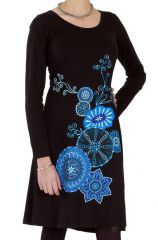 Robe femme chic et de mode ethnique noire Jacinthe 286627