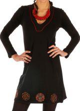 Robe femme chic ethnique automne hiver en coton Monia 313280