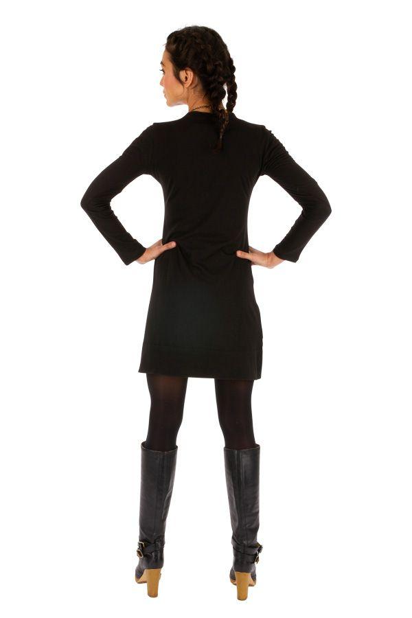Robe femme chic ethnique automne hiver en coton Monia 313282