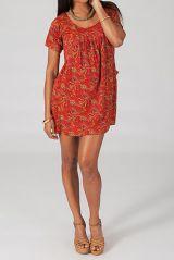 Robe femme courte d'été à col rond Lucilia 4 318657