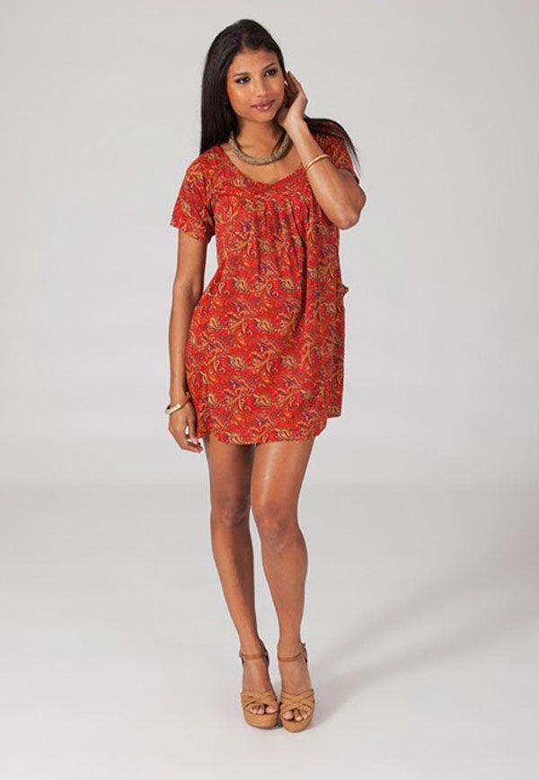 Robe femme courte d'été à col rond Lucilia 4 318658