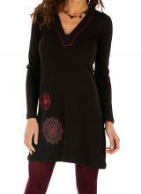 Robe femme courte noire tendance chic et originale Salsa 315614