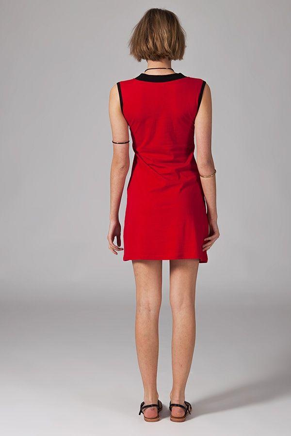 Robe femme courte sans manches et au col en V Graziella 315221