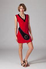 Robe femme courte sans manches et au col en V Graziella 315222