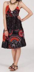 Robe femme d'été - ethnique et originale - noire - Garcia 271842
