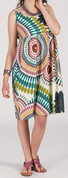 Robe femme d'été mi-longue imprimée ethnique Baba 271848