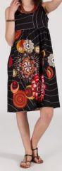 Robe femme d'été mi-longue imprimée ethnique Yuna 271846