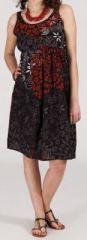 Robe femme d'été mi-longue imprimée ethnique Zeyla 271850