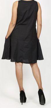 Robe femme d'été originale - forme trapèze - Noire - Carlitta 272046