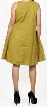 Robe femme d'été originale - forme trapèze - Verte - Carlitta 272044
