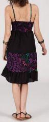Robe femme d'été originale à col V -fines bretelles - Amber 271836