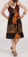 Robe femme d'été originale à col V Daisy 271828